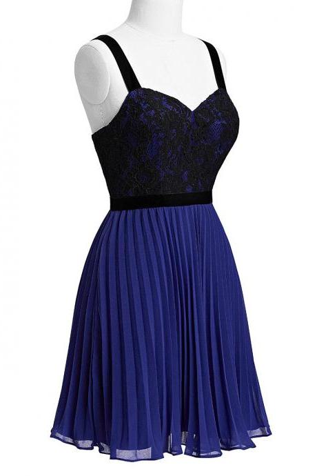 Royal Blue Spaghetti Straps Short Bridesmaid Dresses, Mint Prom Dresses, Elegant Party dresses, New Arrival Formal Gowns